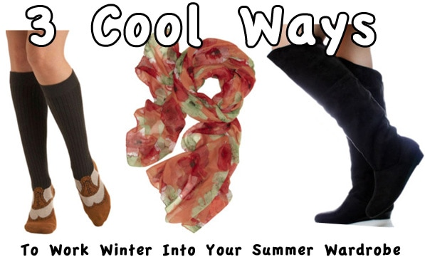 3 ways to wear your winter clothes in summer