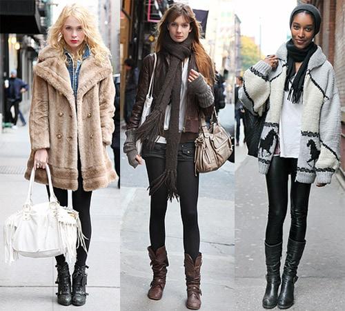 Winter street style: layering