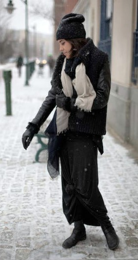 Winter street style at risd