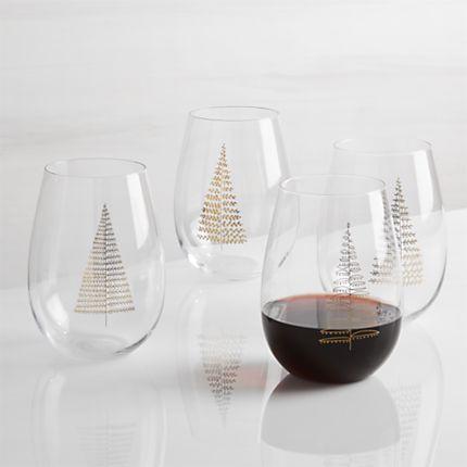 christmas tree wineglass