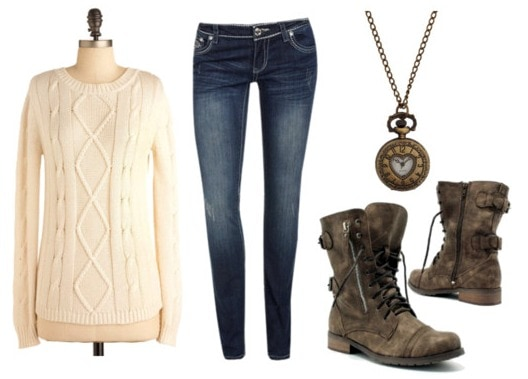 How to wear winter white with skinny jeans and boots