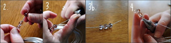 Step by step instructions for making beaded drop earrings
