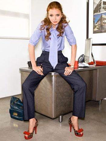 woman at interview cosmopolitan magazine
