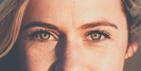 Woman with Small Eye Wrinkles Close-up