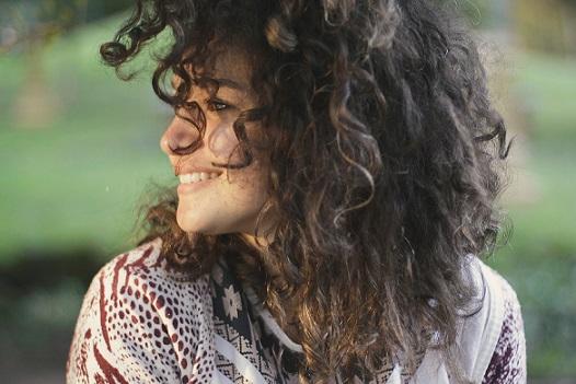 Woman Smiling Carefree
