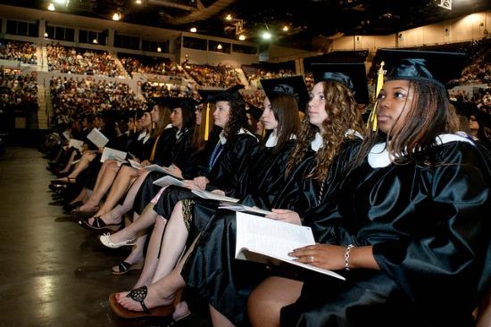 Women at graduation
