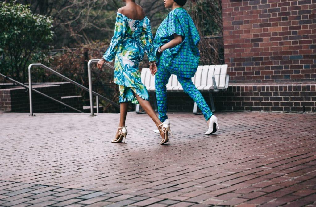 Women walking in high heels
