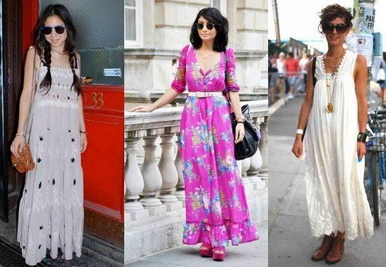 Women wearing maxi dresses