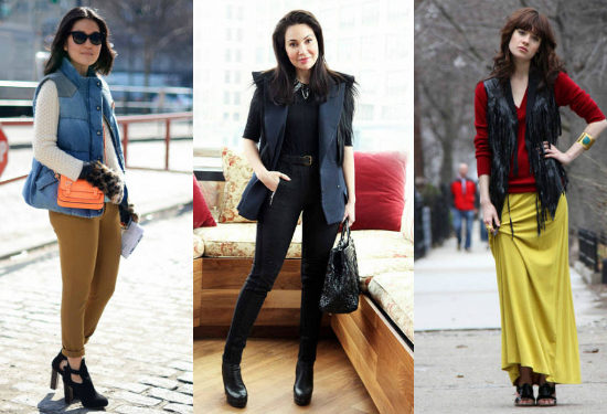 Women wearing vests