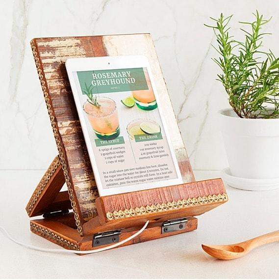 Salvaged Wood Cookbook & Tablet Stand