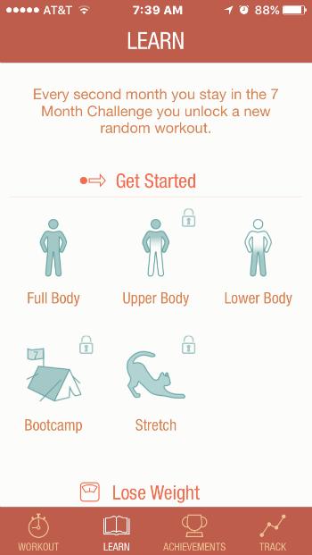 Seven workout app