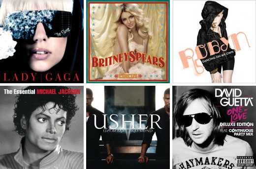 Workout playlist featuring Britney Spears, Lady Gaga, Michael Jackson, and more