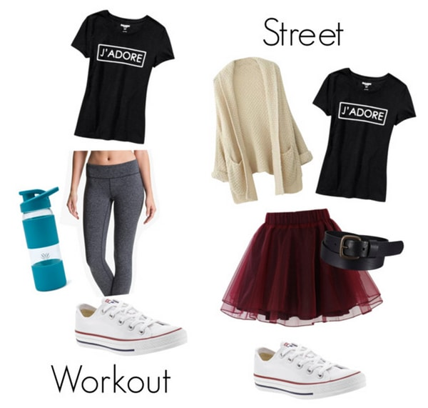 Workout to streetwear