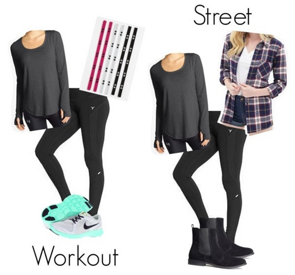 Workout to street outfit