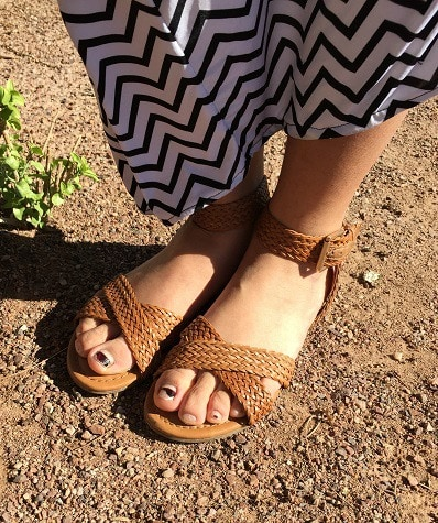 Woven sandals at Arizona State University