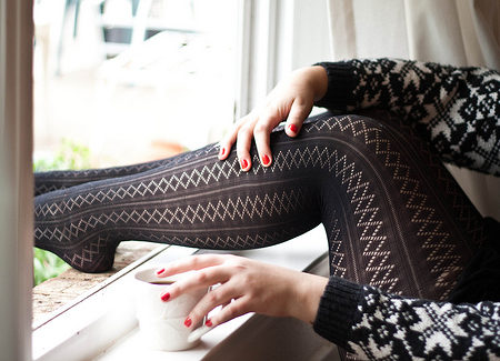 Woven tights