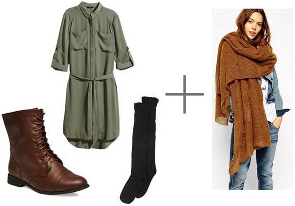Wrap scarf outfit idea
