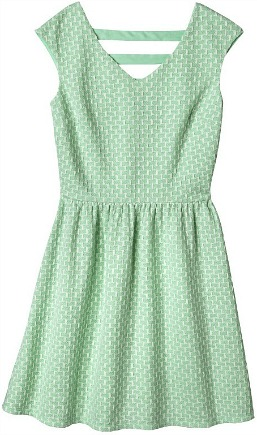 Xhilaration junior's textured fit & flare dress