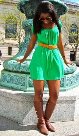 Zola, our college fashionista from Yale