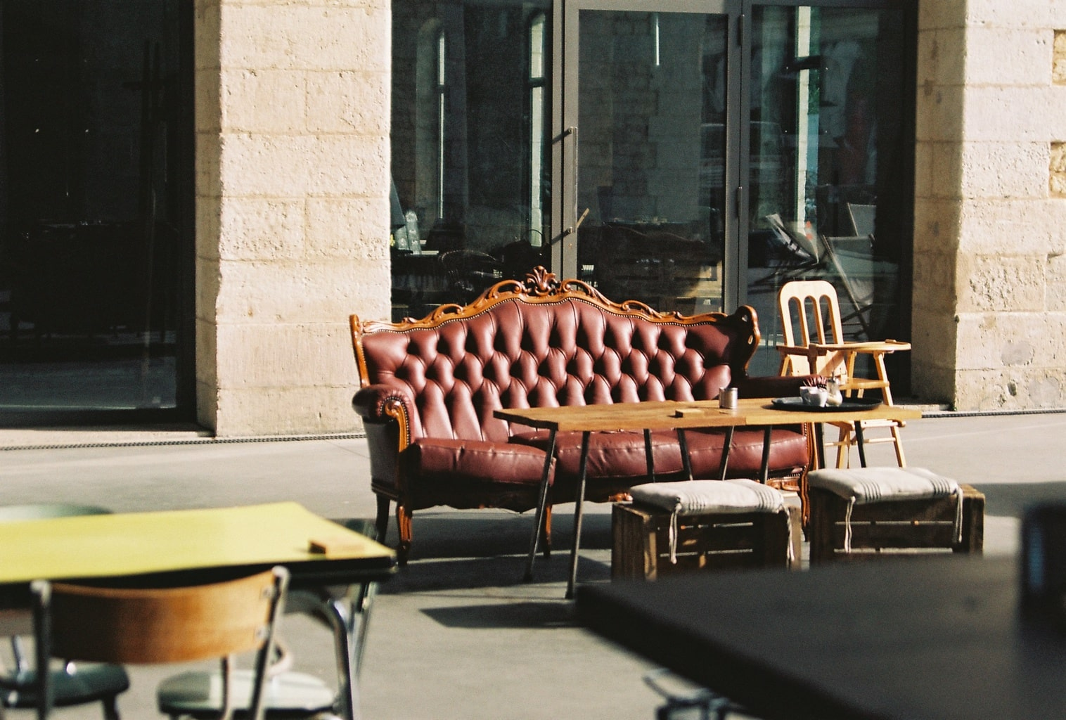 Yard sale furniture