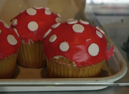 Yayoi Kusama cupcakes at Crumbs