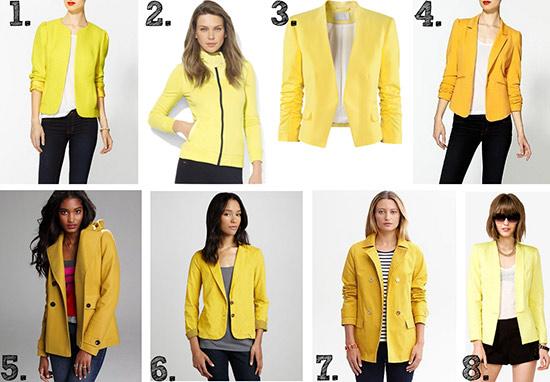 Yellow jackets and coats