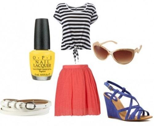 How to wear yellow nail polish
