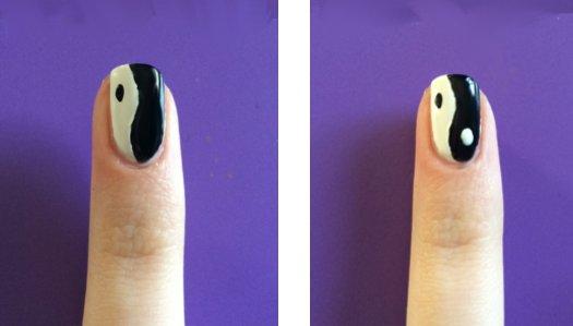 Yin Yang nails: Step 3