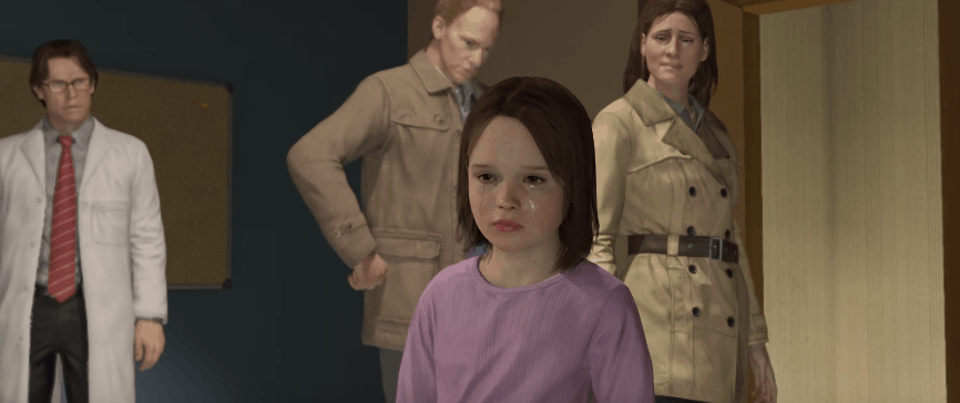 screenshot of young jodie from beyond two souls video game