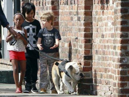 Zahara, Maddox and Shiloh Jolie-Pitt