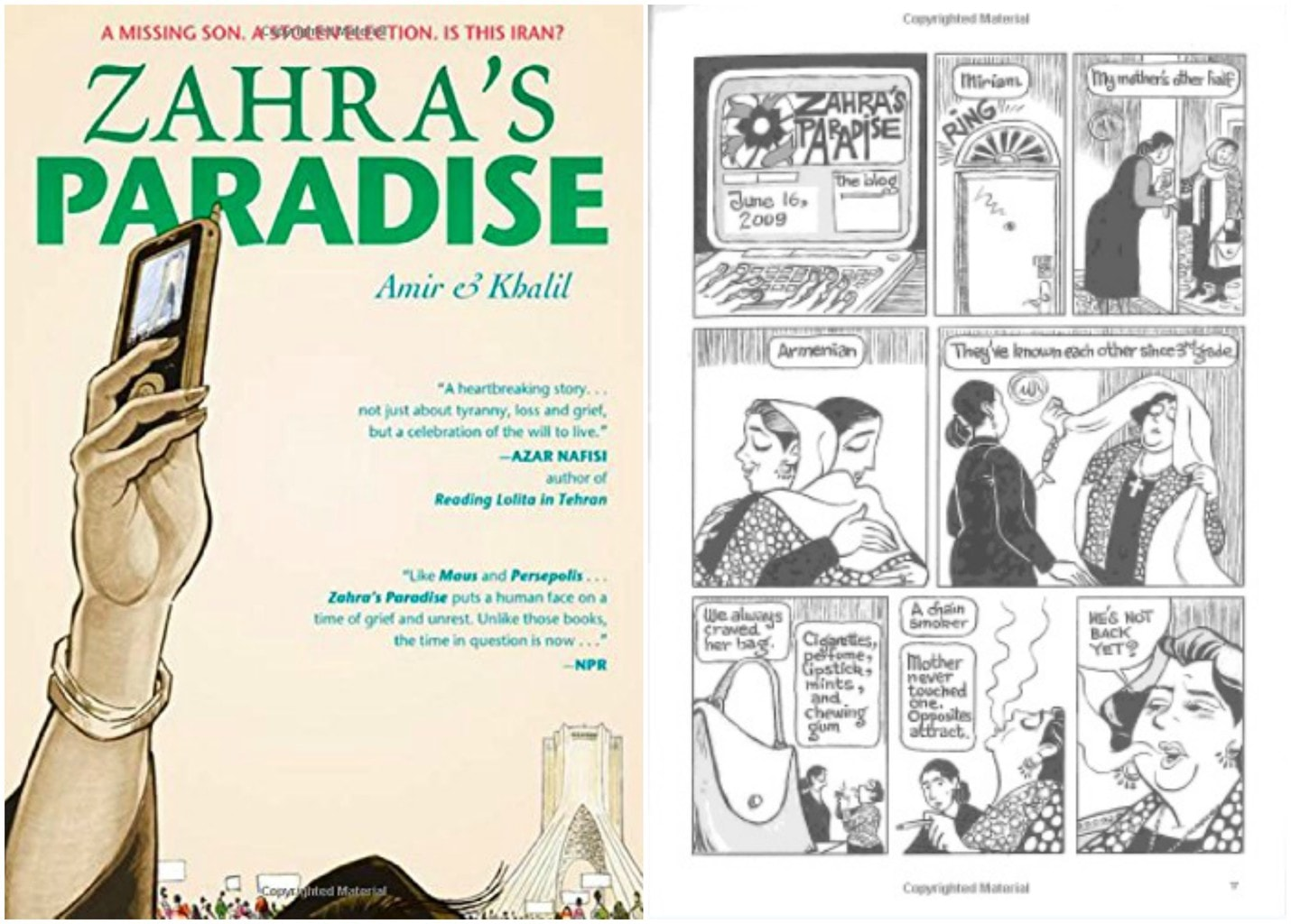 Zahra's paradise book cover