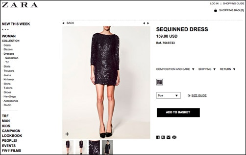 zara launches online shopping in the usa college fashion. Black Bedroom Furniture Sets. Home Design Ideas