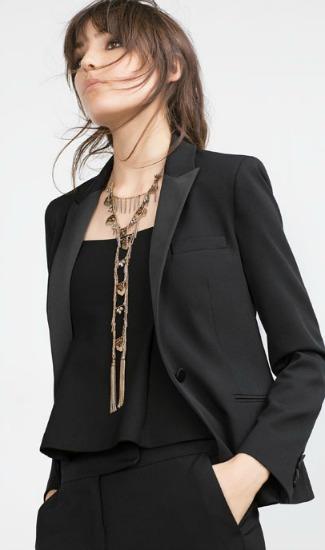 black tuxedo blazer from Zara