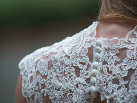 Details on a gown