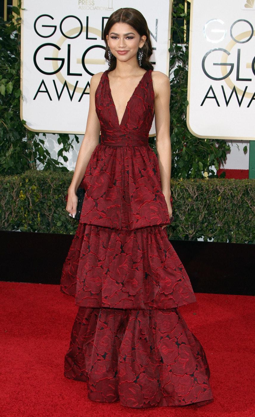 Zendaya at the 2016 Golden Globes