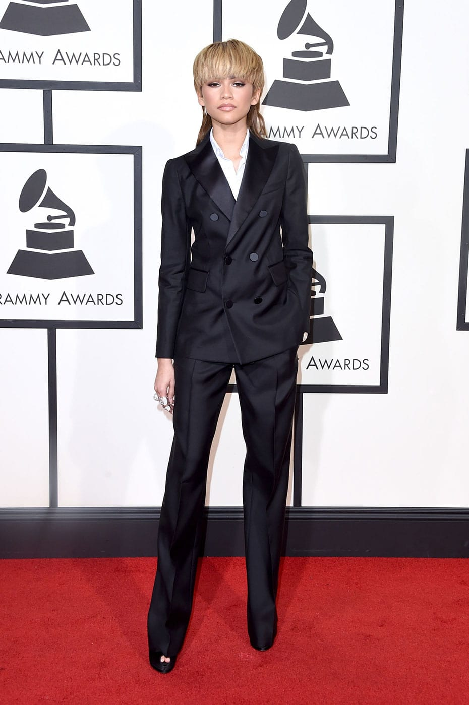 Zendaya in DSquared2 at the 2016 Grammy Awards