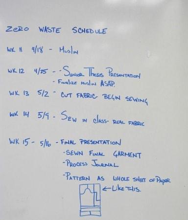 Zero waste schedule