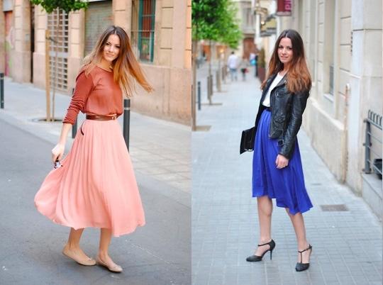 Zina of Fashionvibe in midi skirts