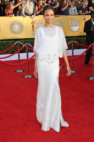 Zoe Saldana in Givenchy Couture at the 2012 Screen Actor's Guild Awards