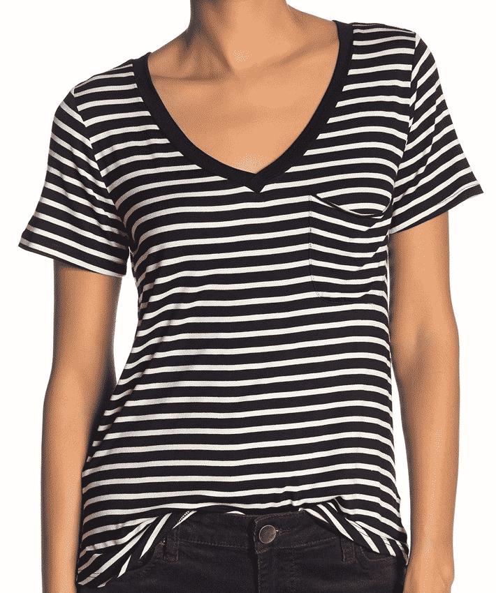 Socialite striped t-shirt.