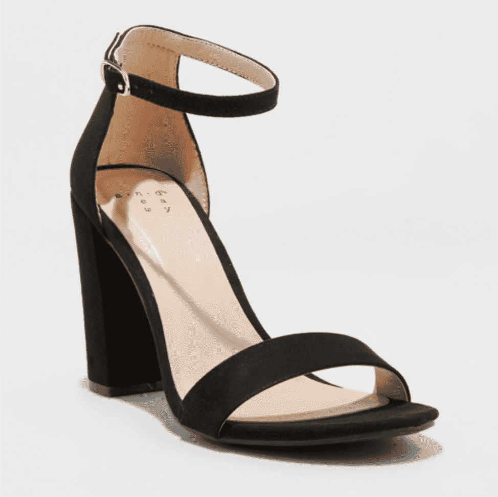 Classic shoes for classic style - simple black strappy block heels