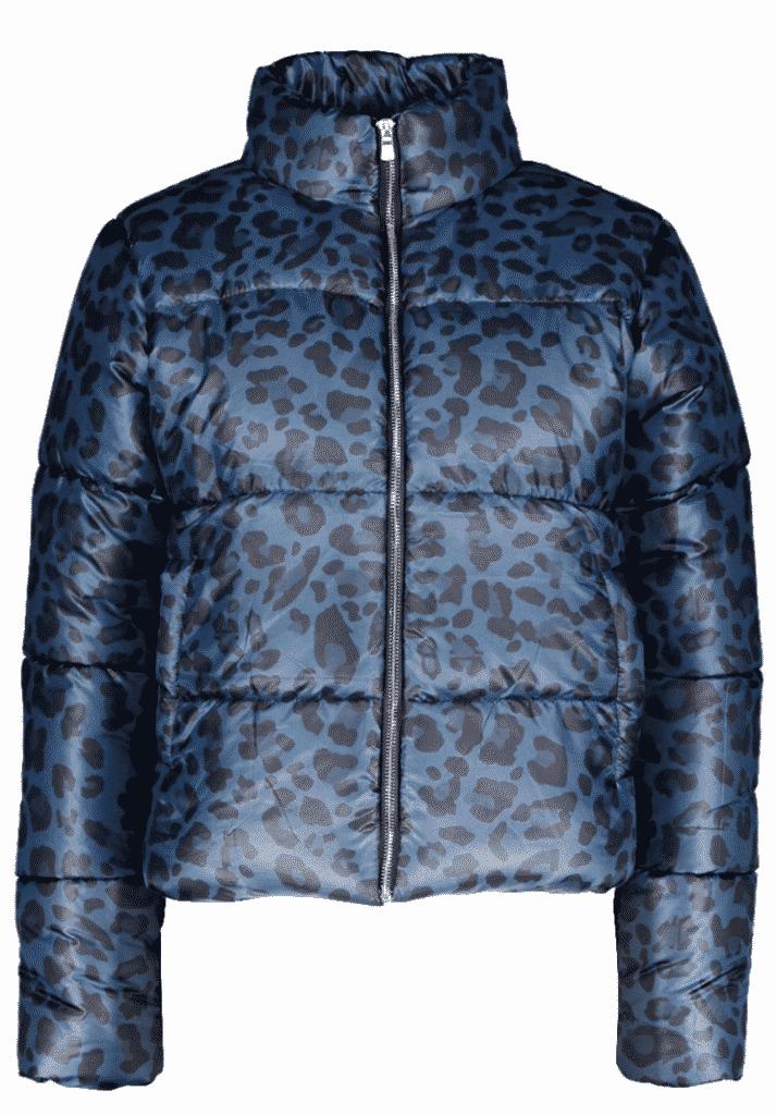 leopard print puffer jacket