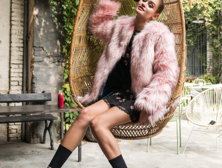 Faux fur jacket from The Blonde Salad collection
