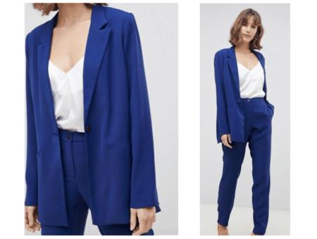 Cobalt blue blazer and pants