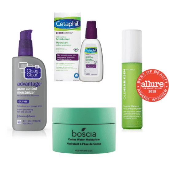 Best moisturizers for oily skin: Clean and Clear Advantage Acne Control Moisturizer, Cetaphil Oil Control Moisturizer, Boscia Cactus Water Moisturizer, Olehenriksen Oil Control Hydrator