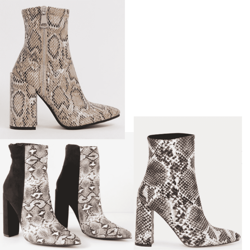 Snakeskin boots trend