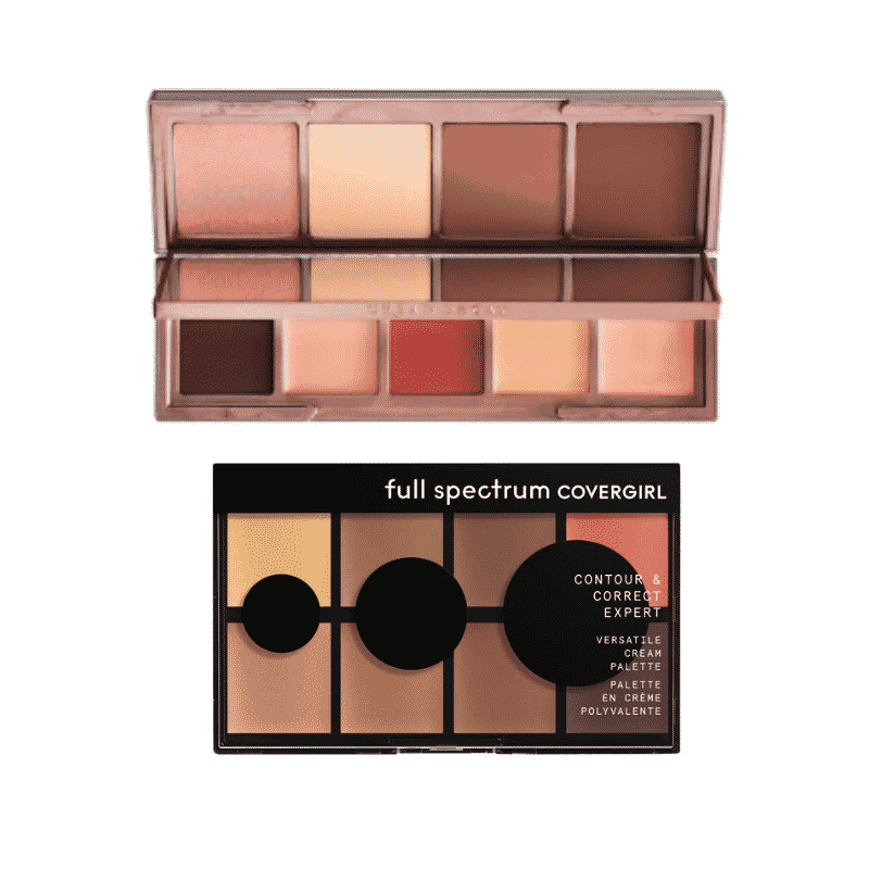 Makeup for dark skin: Contour palettes