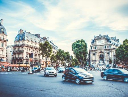 Photo of a European street