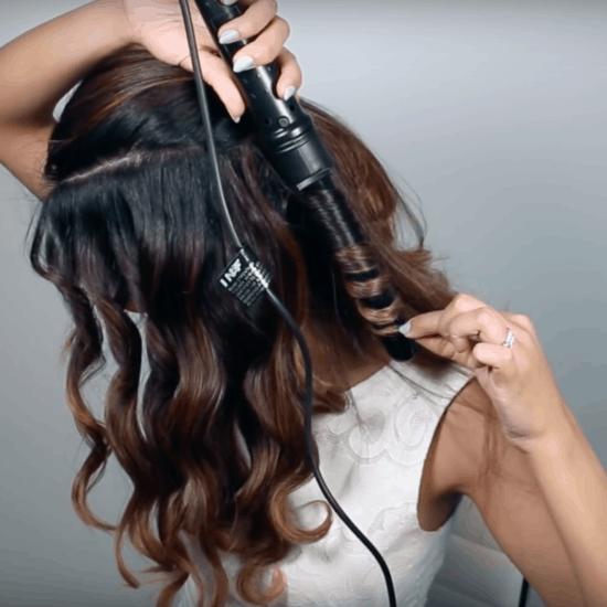 Faux undercut hairstyle step five - curl hair