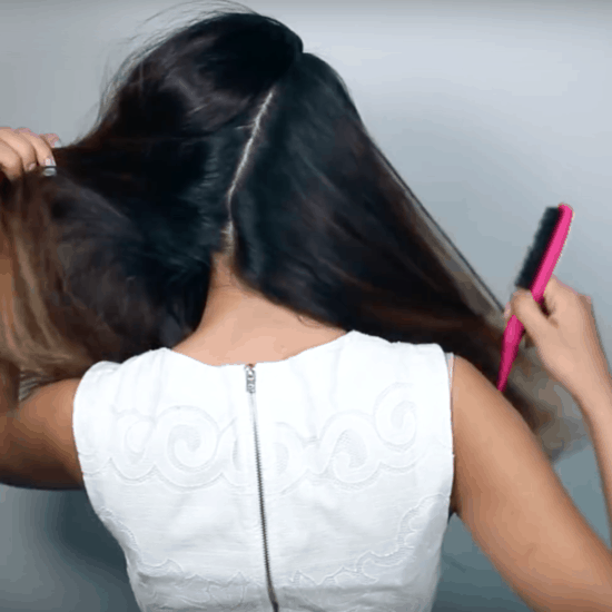 How to do a faux undercut hairstyle - step one